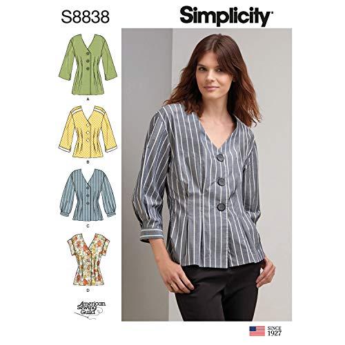Simplicity US8838R5 Patron de chemise Miss Petite R5 (14-16-18-20-22)