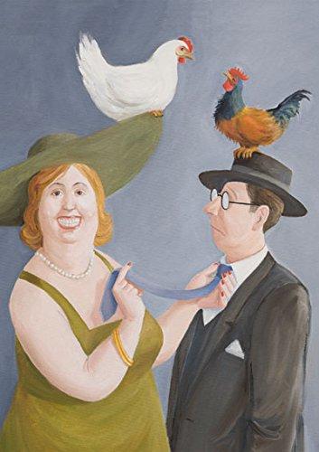 Postkarte A6 • 77913 ''Hackordnung'' von Inkognito • Künstler: INKOGNITO • Satire • Liebe & Romantik • Ostern • Fantastik • Fantastik