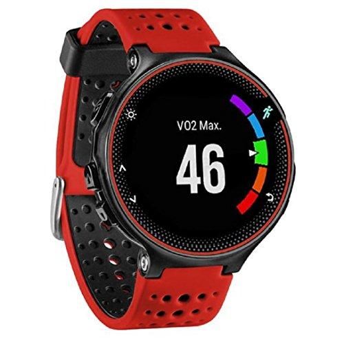 für Garmin Forerunner 230/235/630,Culater Luxus Bunte Cool Weichem Silikon Ersatz Handgelenk Uhrenarmband Riemen (Rot Ohne Werkzeuge)