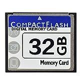 H&T Scheda di Memoria Compactflash, Scheda CF Prestazioni della Scheda di Memoria Flash compatta per Macchine fotografiche digitali CNC/IPC/Macchina Industriale/Scheda CF Vintage,32gb