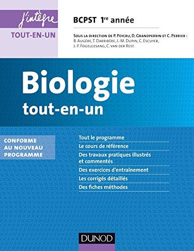 Biologie tout-en-un BCPST 1re année - 3e éd. : Conforme au nouveau programme (4 - Cours tout-en-un)