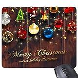 Weihnachten Leuchtmittel Bell Krücke Baum Merry Christmas Festival Illustration Muster Rechteck rutschfeste Gummi Mauspad Spiel Maus Pad
