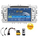 Free 8GB Card Double 2 Din 7-inch touchScreen Car DVD Video Player GPS navi car stereo For Ford Car Stereo Focus 2008-2010 FAST 800 MHz CPU Built-in Bluetooth FM AM radio ipod Audio Headunit