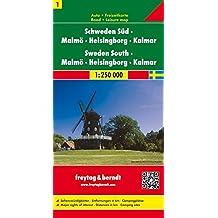 Schweden Süd - Malmö - Helsingborg - Kalmar, Autokarte 1:250.000, Blatt 1, freytag & berndt Auto + Freizeitkarten