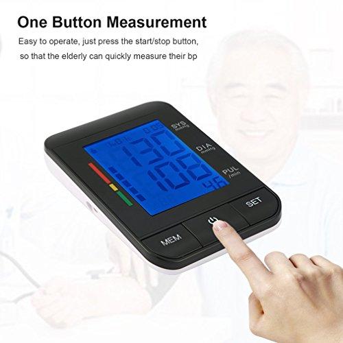 Oberarm Blutdruckmessgerät, Digitale Blood Pressure Monitor mit LCD-Display, vollautomatische Blutdruck- und Pulsmessung am Oberarm