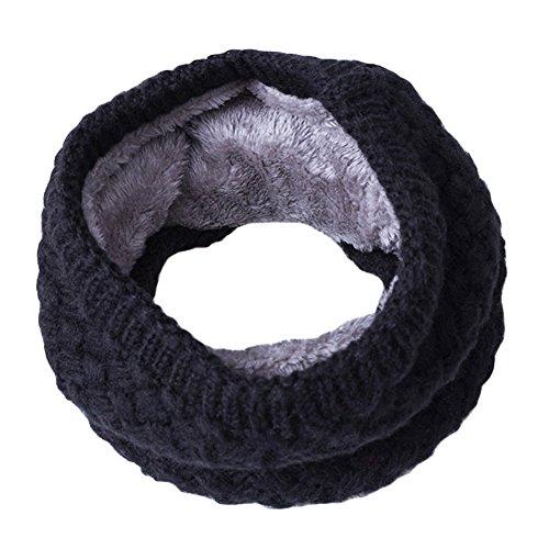 Herren-infinity-schal Fleece (Bodhi2000® Unisex Winter gestrickte Snood Schal Loop pelzigen Halswärmer Wrap Infinity Schals)