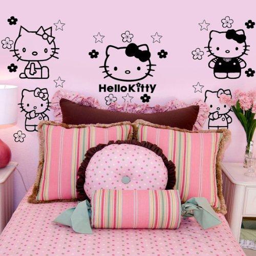 Imprinted Designs Hello Kitty Inspiriert Wand Aufkleber Aufkleber Kunst-17,8x 22,9cm (Hello Kitty Aufkleber Für Die Wand)