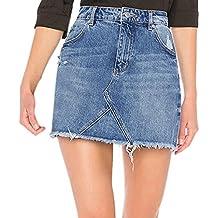 san francisco 0b495 1a156 Gonna jeans longuette - Amazon.it