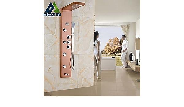 Miscelatore termostatico valvola golden rose pannello doccia
