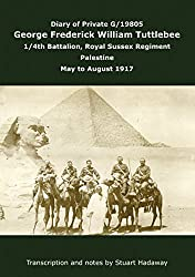 Diary of George Tuttlebee, 1/4th Royal Sussex Regiment, Palestine, May to August 1917