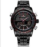Shining Watch NAVIFORCE LED de cuarzo reloj de