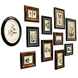 PsgWXL Bilderrahmen Set Europäische Fotowand Massivholz Retro Kombination Fotorahmen Wand Wohnzimmer Esszimmer Dekorative Malerei