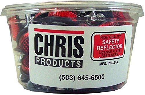 Preisvergleich Produktbild Chris Produkte Blechschild von Software Motorrad Mini Reflektor,  4 Stück 40 REFLECTOR TUB rot