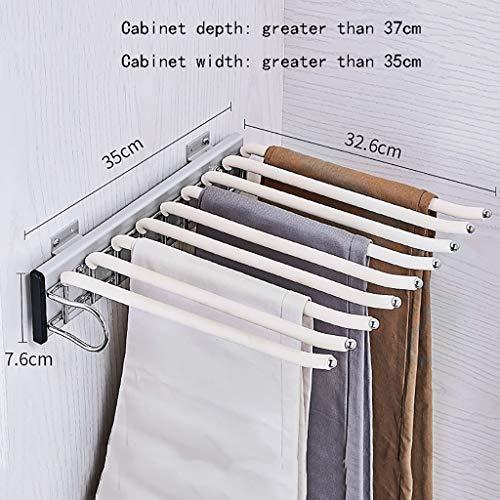 Porte-pantalon Alliage d'aluminium Télescopique Chargement latéral Multifonction Ménage À l'intérieur de l'armoire Porte-pantalon suspendu Porte-pantalon (Couleur : B, taille : 35 * 32.6 * 7.6cm-b)