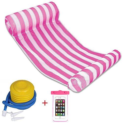 Preisvergleich Produktbild QG® Premium Schwimmbecken Schwimmer Hängematte Bett, aufblasbare Schwimmbecken Liege, Luxus Schwimmbad und Meer Lilo (L133xW66xH22 cm) (Rote)