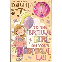 Daughter 7th Birthday Card -