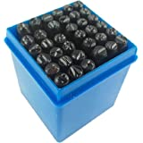Juego de 36 piezas de punzones con números y letras, 4 mm