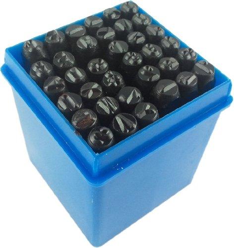 timtina® Set 36 tlg. Schlagzahlen und Schlagbuchstaben 4mm