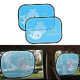 Aolvo Pare-soleil de voiture pour bébé/enfant/fille/femme, Lot de 2meilleure fenêtre de voiture Abat-jour pour bébé, protéger votre bébé/enfant/bébé/enfant/familles/animaux de compagnie