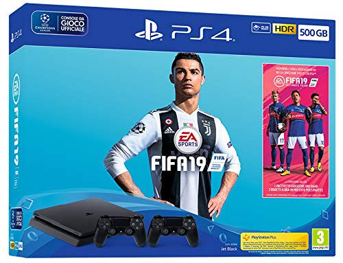 Playstation 4 Slim F chassis 500Gb + 2° Dualshock + FIFA 19