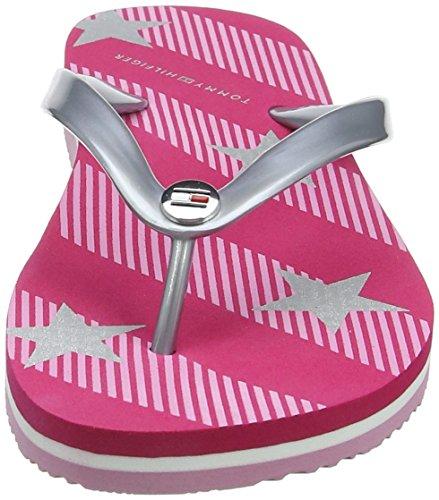 Tommy Hilfiger Damen Stars and Stripes Beach Sandal Zehentrenner Pink (Bright  Rose 633) ...
