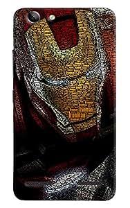 Omnam Iron Man Embossed Iron Man Printed Designer Back Cover Case For Lenovo Vibe K5 Plus