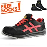SAFETOE Lightweight Safety Shoes Trainers [CE Quality Certified] - 7329 Free Sock Work