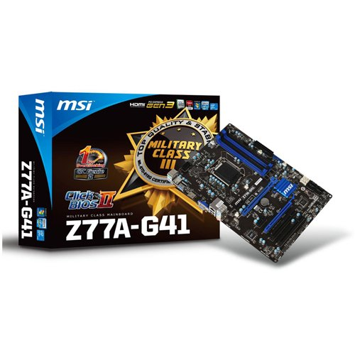 MSI Z77A-G41 Mainboard Sockel 1155 (ATX, Intel Z77, DDR3 Speicher, VGA, HDMI, USB 3.0)