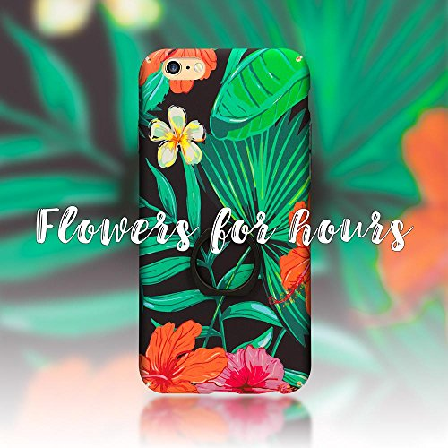 iPhone 6 6S Ring Hülle Handyhülle von NICA, Motiv Schutzhülle mit 360-Grad Fingerhalterung, Dünnes Hard-Case mit Ständer, Slim Back-Cover Etui für Apple i-Phone 6S 6 Phone, Designs:Passion Flower Tropical Flower