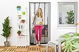 Fliegengitter-Vorhang mit 4Lamellen mit Gewichten Smart-Schutz für Tür ohne Bohren, Fliegengitter-Tür, Anti-Insekten, Anti-Fliegen