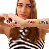 5 x SAMELOVE Regenbogen Tattoo - Schriftzug für CSD, LGBT, Gay (5)