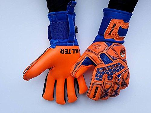 walter guanti da portiere modello sweet con stecche estraibili  (azzurro-arancio d7b7ae0cf926