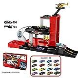 FzJs-J-in Car Giocattoli Ampio parcheggio Garage Playset Istruzione in Elicottero per Bambini Bambini