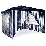 Nexos GM36096_AZ Pavillon Partyzelt 3x3m blau weiß wasserdicht