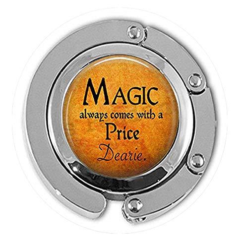 bab Halloween-Kostüm-Schmuck - Magic Always Comes a Price Dearie - Rumpelstilzin-Zitat - Once Upon a Time - Magic Spell Hanger - Bibelzitat Anhänger - Wahlweise