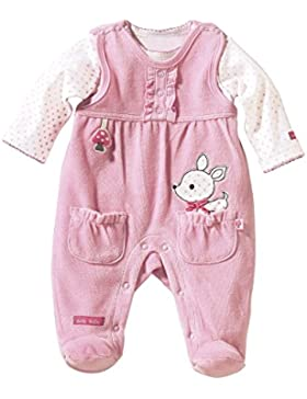 Bornino Strampler-Set 2-tlg. / Basics Baby Bekleidung Mädchen/Nicki-Overall/Druckknöpfe/rosa