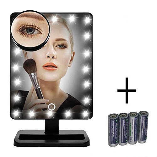 Espejo de maquillaje con Un Aumento 10x, Espejo led Cosmético con Pantalla...