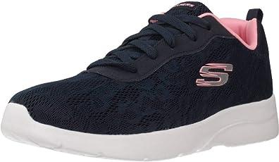 Skechers Women's Dynamight 2.0 Homesoun Navy-Pink Walking Shoes(12963-NVPK)
