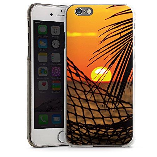 Apple iPhone 5s Housse Étui Protection Coque Coucher de soleil Plage Hamac CasDur transparent