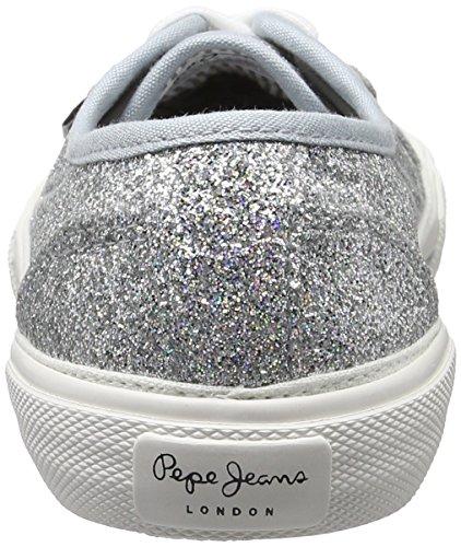 Pepe Jeans Aberlady Flash, Scarpe da Ginnastica Basse Donna Argento (Silver)