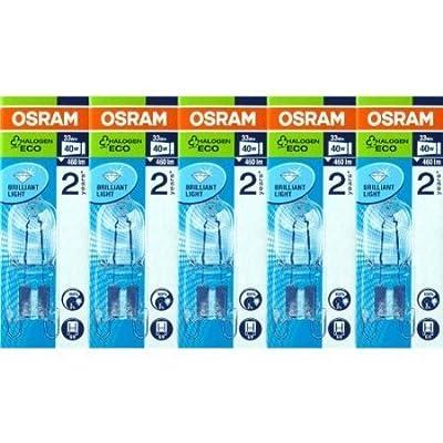 5 Stück Osram Halopin Energy Saver G9 klar 66733 ECO Halogenlampe 33W/230V von Osram