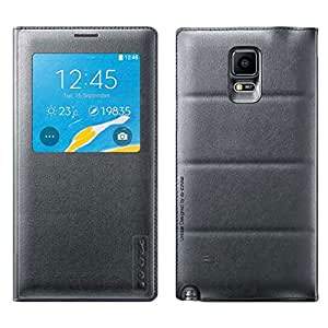 G-CASE Folio Back Cover Gris pour Galaxy Note 4