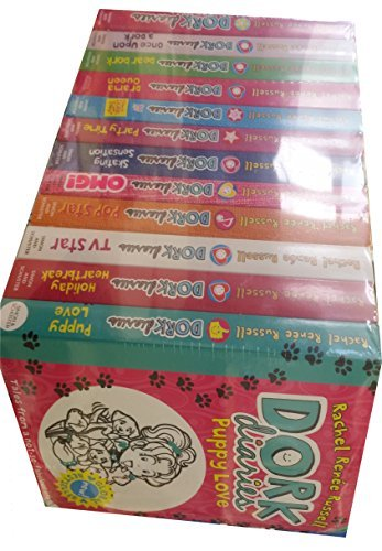 Dork Diaries By Rachel Renee Russell 12 Books Collection Set (Puppy Love, Holiday Heartbreak, TV Star, Pop Star, OMG, Skating Sensation, Party Time, ... Dear Dork, Once Upon a Dork, Dork Diaries)