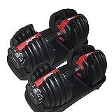 Die besten Einstellbare Dumbbells - Fitness House Erwachsene Einstellbare Hantel 2.5-24 kg Im Bewertungen