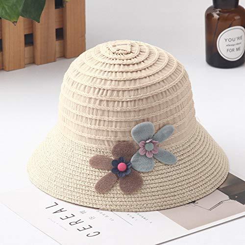 GUOMAOUP Hut Neue Sommer Kinder Floral Strohhut Hut Hut Hut Kinder Sonnenhut Strand Sun Baby Mädchen Sonnenhut Wide Edge Floppy Panama ()