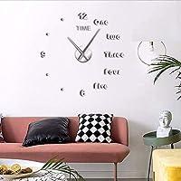 Wmbz 1 Pieza DIY Letras De Inglés Reloj De Pared Reloj DIY Gigante Sin Marco 3D