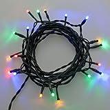2 x Catena per presepe 5 m, 20 LED, Luce Fissa, Cavo Verde, Catena Natalizia, Decorazione Luminosa