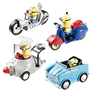 Mondo-53203-Minions pack-4vehículos-1/43 , Modelos/colores Surtidos, 1 Unidad