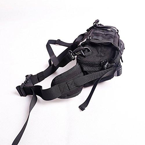 OneTigris Vielseitig Taktische Hüfttasche Bauchtasche umhängetaschen für Camping / Wandern / Laufen / Radfahren Outdoor Sports Schwarz