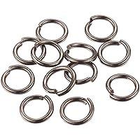 20 Ringe für Wechselschmuck FARBE bronze 18,5mm Metallringe geschlossen #S232